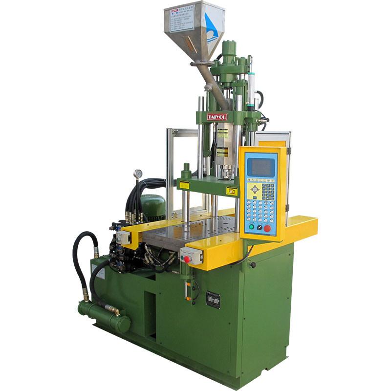 Slide plate vertical injection molding machine